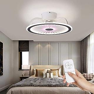Ventilateur avec ventilateur de plafond de cristal de lampe avec LED Plafonniers 50W moderne dimmable Plafonniers vitesse ...