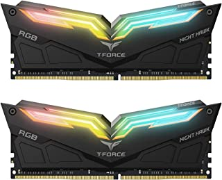 Team Group Night Hawk RGB, 16 GB, DDR4, 4000 MHz módulo de - Memoria (16 GB, DDR4, 4000 MHz, 16 GB, 2 x 8 GB, DDR4, 4000 MHz, 288-pin DIMM, Negro)
