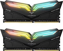 TEAMGROUP T-Force Night Hawk RGB 3600MHz 16GB Kit (2x8GB) CL18 DDR4 SDRAM (PC4-28800) Desktop Memory Module ram TF1D416G36...
