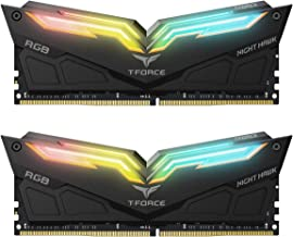 TEAMGROUP T-Force Night Hawk RGB DDR4 16GB Kit SDRAM (2x8GB) 4000MHz (PC4-32000) CL18 Desktop Memory Module ram TF1D416G4000HC18EDC01 (Black)