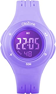 Girls Watch Kids Digital Sports 7-Color Flashing Light Water Resistant 100FT Alarm for Girls Age 8-12 1455