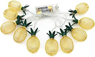 kelebin LED Pineapple Shaped Night Lights Fairy Light String Curtain Fruit Lamp Party Bedroom Home Holiday Christmas Party...