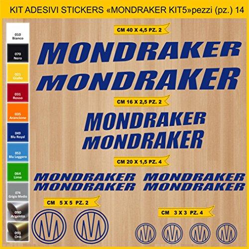 Pimastickerslab Aufkleber Fahrrad MONDRAKER_KIT5 Kit Aufkleber Stickers 14 Stück – bici Bike Cycle wählbar Cod.0885 (049 BLU ROYAL)