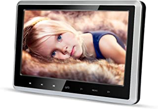 Car DVD Player for Kids 10.1 inch Wide Screen Ultra-Thin Headrest DVD Player Monitor with HDMI USB SD FM Remote for Long R...