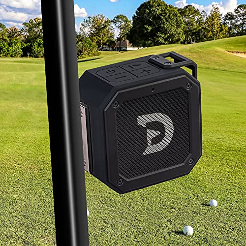 ACHIX Golf Bluetooth Speaker, Magnetic Portable Wireless Waterproof Speaker with Loud Stereo Sound and Bass Boost, Instantly Mounts to Golf Cart, 20 Hours play, TWS & SD Card Function