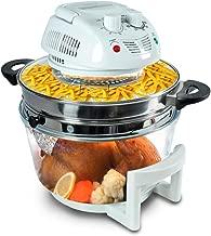 NutriChef AZPKAIRFR48 Halogen Oven Countertop Air-Fryer/Infrared, White