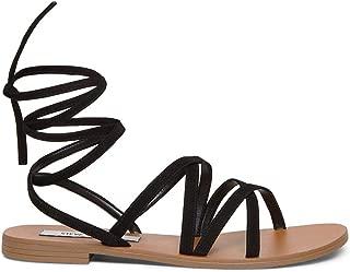 Best black lace flat sandals Reviews