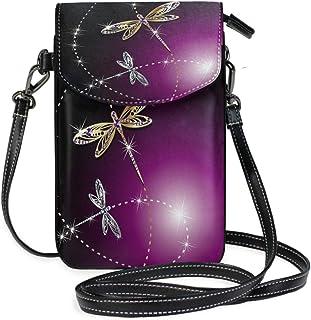 ZZKKO Mini-Umhängetasche mit Libellen-Motiv, für Handy, Geldbörse, Handtasche, Leder, für Damen, Freizeit, Alltag, Reisen,...