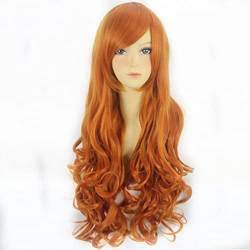 Anime Perücke einem Stück Nami Anime Cosplay Orange 80cm   78,7  lang gelockt Fashion Party Haar Perücke