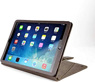 TUFF LUV Tri-Axis Western Leather Collection Case Cover for iPad Air 2019 / iPad Pro 10.5 (2017) -Brown