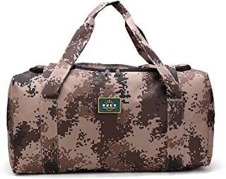 Duffel Bag,Canvas Shoulder Bag, Travel Handbag, 20 Inches, Classic Army Green, Waterproof, Portable, Large Capacity, Travel, Moving Essential (Color : Brown)