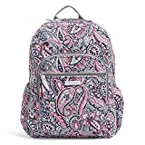 Vera Bradley Women's Signature Cotton Campus Backpack, Gramercy Paisley, One Size