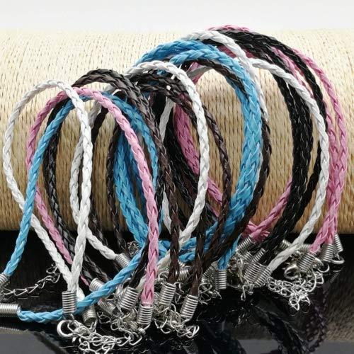 ULTNICE 50pcs pulsera trenzada cuerda pulsera cuerda para muñeca con cierre