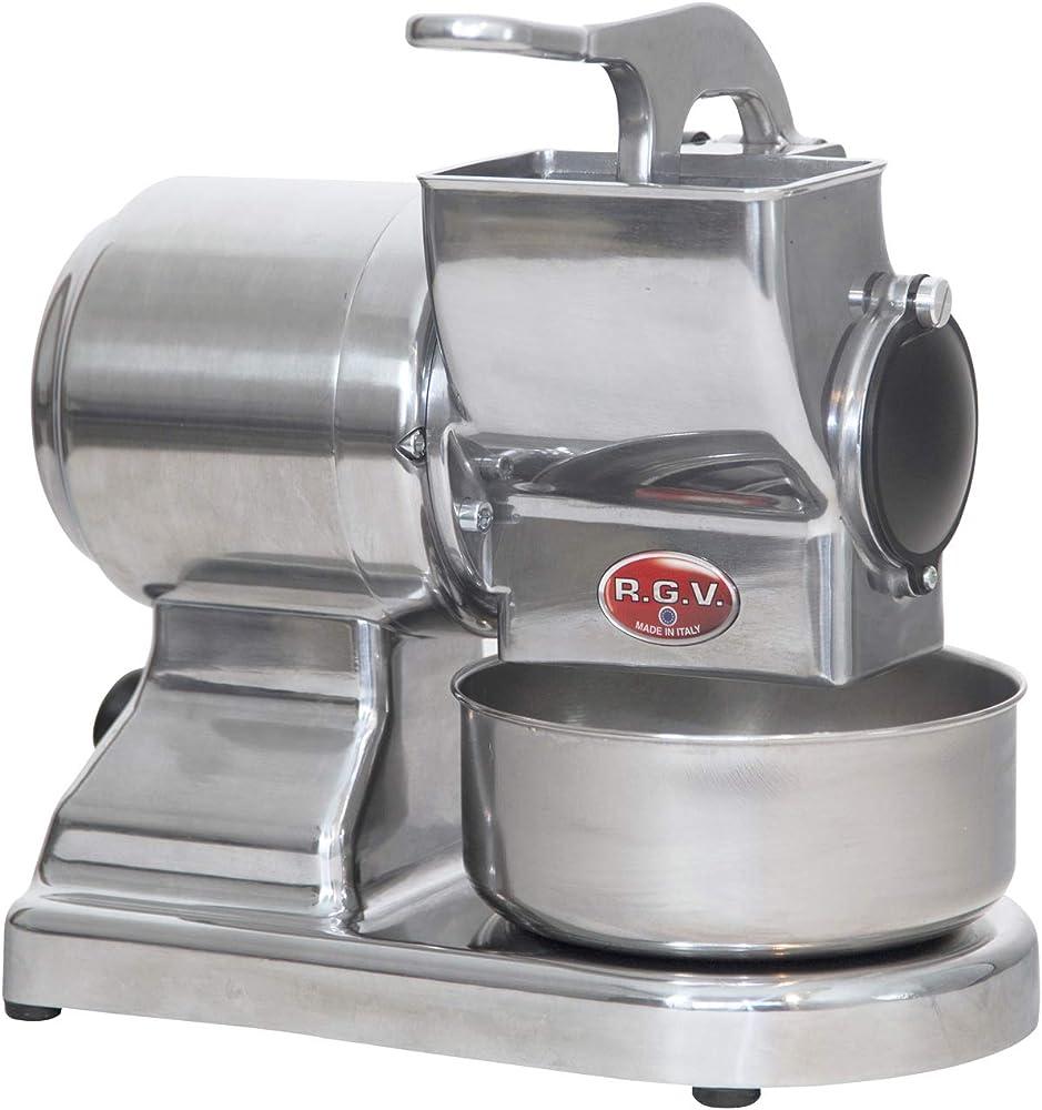 Rgv maxi vip 8g/s grattugia elettrica con rullo professionale estraibile e lavabile in lavastoviglie 90295_SILVER