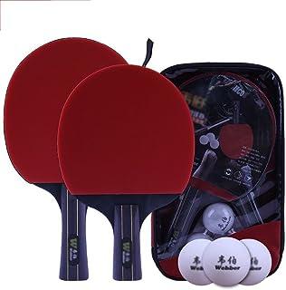 xianw Set de Mesa Ping Pong Padel - Pack de 2 paletas de ...