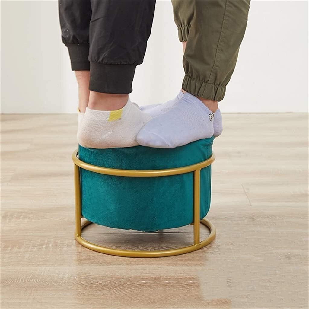Repose-pieds, léger Ottomans 3 Hauteurs Chambre Salon Repose-pieds en métal de soutien petit tabouret Hall d'entrée Change Chaussures Pouffe Tabouret 1112 (Color : 5) 8