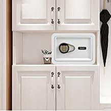 Safe Electronic Password Safe Home Mini Valuables Safe Closet Safe (Color : White, Size : 35 * 25 * 25cm)