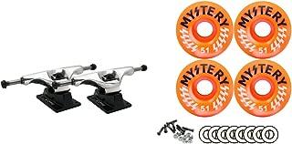 Core Silver Trucks Mystery 51MM 99A Victory Orange Swirl Wheels Bearings Package