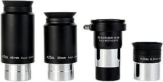 SVBONY Telescope Eyepiece Set Telescope Accessory Set with 2x Barlow Lens 4 Element Plossl Design 6.3mm 32mm 40mm for Astronomical Telescopes