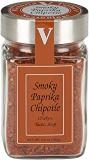 Smoky Paprika Chipotle – Victoria Taylor's 5.4 Oz Jar – Tangy Rub Seasoning Adds Smoky Goodness to Any Meat or Veggie, All-Natural Organic Flavors made from Chipotle Peppers with Mesquite Smoke Flavor in every bite. Great in Chili, Tacos, Salsa and on Pork, Shrimp and Chicken!