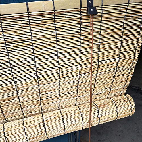 CMJM Bamboo Blinds Roll-up Reed Shade Outdoor Bamboo Shades for Patio Roll Up Retro Decoration Bamboo Roman Window Shades