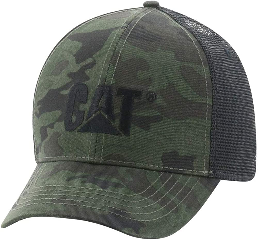 Caterpillar Men's Raised Logo Cap Reservation Size One Night Directly managed store Camo
