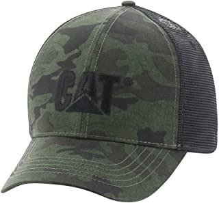 Men's Raised Logo Cap, Night Camo, One Size