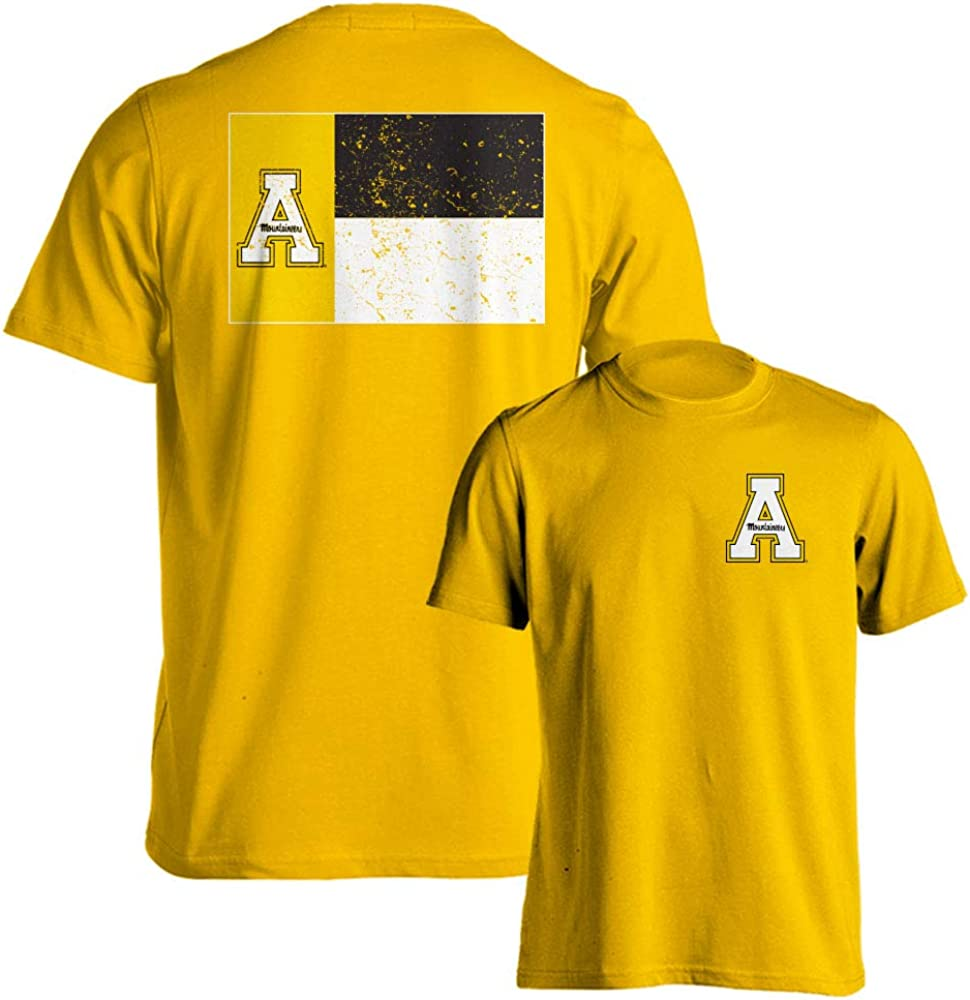 Appalachian State Mountaineers Official North Carolina State Flag Logo Short Sleeve T-Shirt
