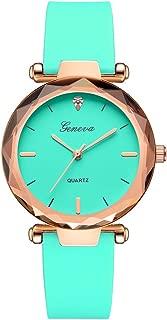 Balakie Womens Wrist Watch Luxury Rhinestone Silica Band Simple No Number Scale Analog Quartz Watch-A37