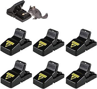MAKINGTEC Rat Traps Reusable Snap Mice Traps That Work Rodent Killer Easy to Bait, 6 Pcs
