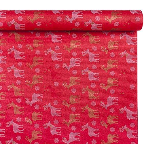 Class C048R-D186-PEFC Airlaid tafelkleed, papier, rood, 480 x 120 x 0,1 cm