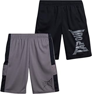 TapouT Boys' Athletic Shorts - Active Performance Basketball Shorts (2 Pack)