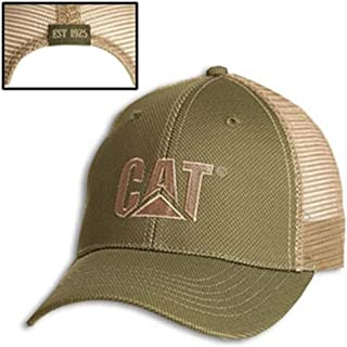 Cat Olive Green Cap w/Tan Overlay
