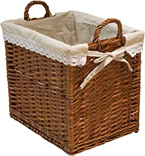 Classic Hand-woven Square Large Capacity Laundry Basket, Rattan Dirty Clothes Basket, Dirty Clothes Storage Basket, Multifunctional Storage