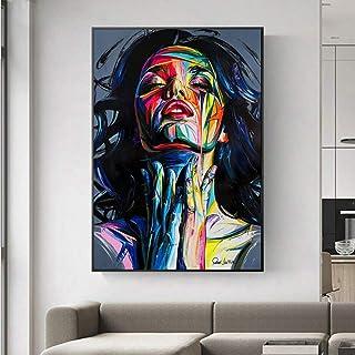 Impressions Sur Toile Peintures Murales D'Art Décor,Graffiti Street Girl Abstrait Aquarelle Décoration D'Affiches D'Art Ca...
