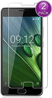 E-Hamii [2-pack] skärmskyddsfolie för Acer Liquid Z6 Plus, 9H härdat glas skyddskåpa, HD skyddsfolie antirepor och fingera...