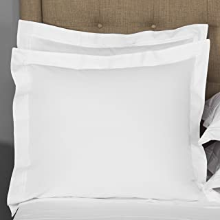 square pillows bed