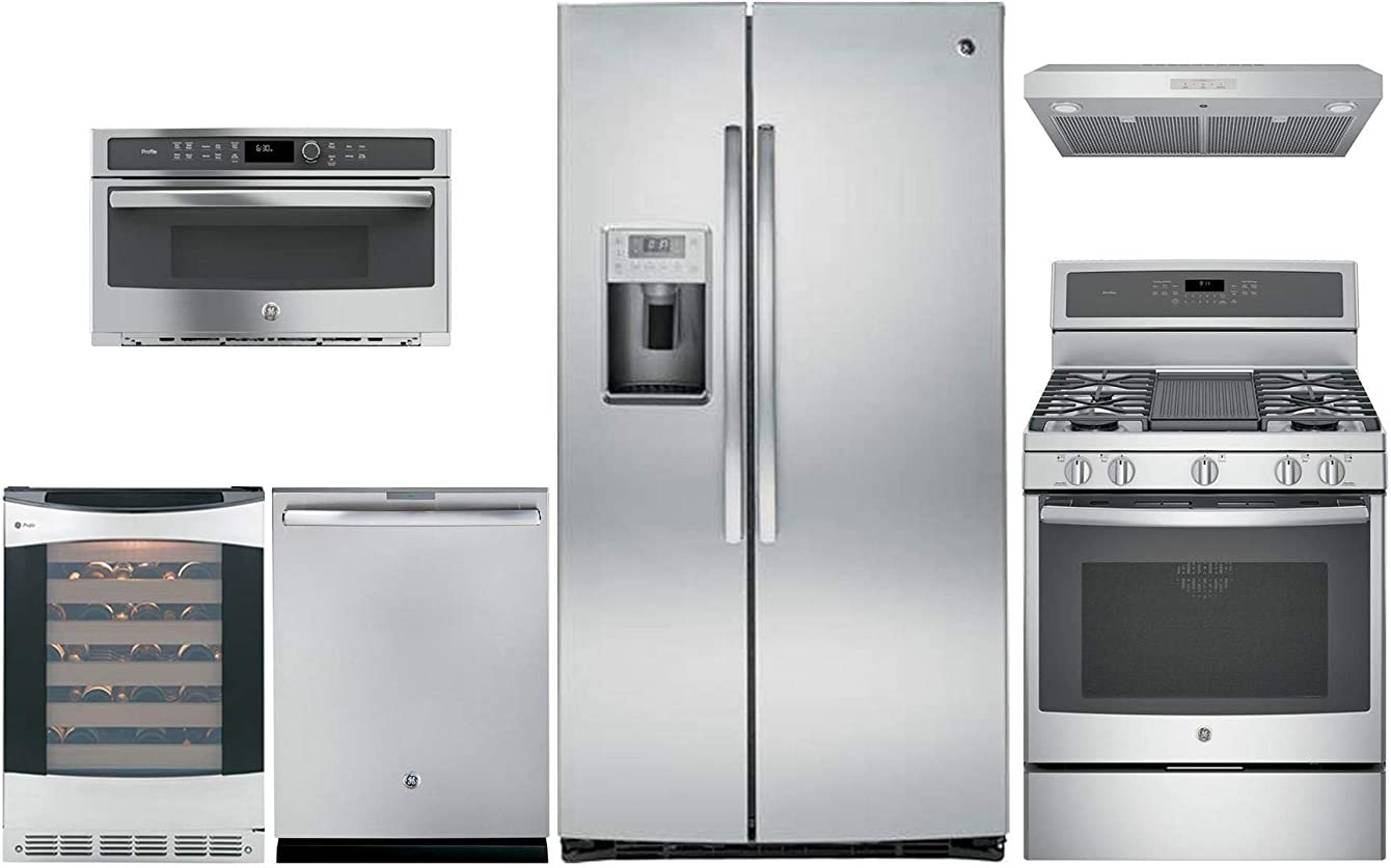 GE Profile 6 Piece Kitchen Appliance Package with 36