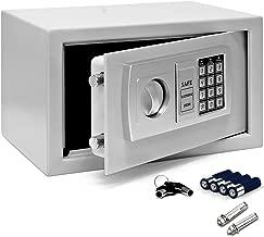 Deuba Caja Fuerte Seguridad Safe Plata Cierre electrónico 20 x 31 x 20 cm código de Seguridad Suelo Pared hogar Oficina