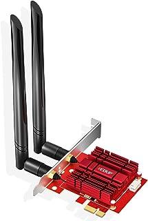 EDUP PCIE WiFi 6 Bluetooth Adapter Bluetooth 5.1 Wi-Fi Card Heat Sink AX 3000Mbps AX200 Dual Band 5.GHz/2.4GHz PCI-E Wirel...