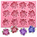 Funshowcase Flowers Collection Fondant Candy Silicone Mold for Sugarcraft Cake Decoration, Cupcake Topper, Polymer Clay, Soap Wax Making Crafting Projects