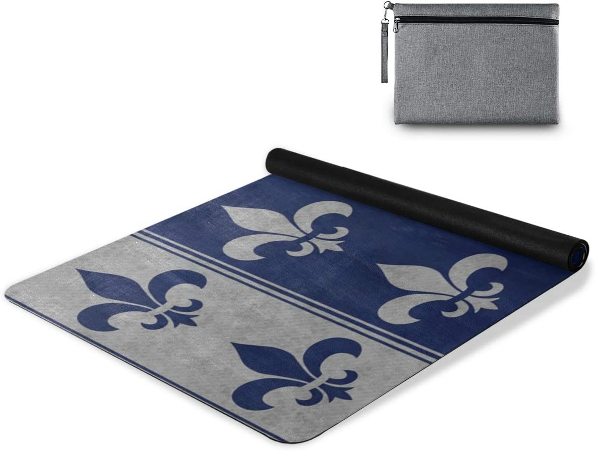 senya Non Slip Yoga Towel Mat Fees free!! Navy and Blue Fleur De L Price reduction Gray