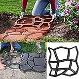 Gufan DIY molde de pavimento Jardín Patio Camino Losas de hormigón Walk Maker molde 45x 45x 4cm)