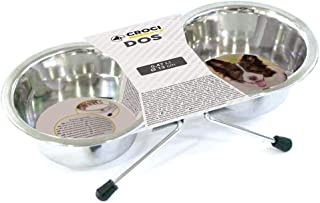 CROCI Steel Bowls Dos with Stand, 13 cm