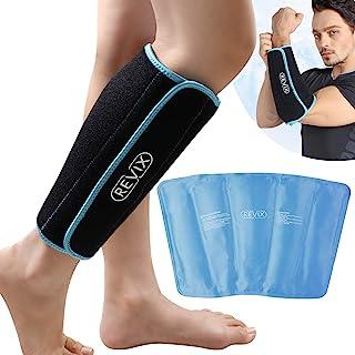 بسته های یخی گوساله و شین ژل برای آسیب های قابل استفاده مجدد بسته بسته بندی پا بسته آستین فشرده سازی درمان سرما برای تورم ، کوفتگی و پیچ خوردگی ، پشتیبانی از تسکین درد پا شین آتل