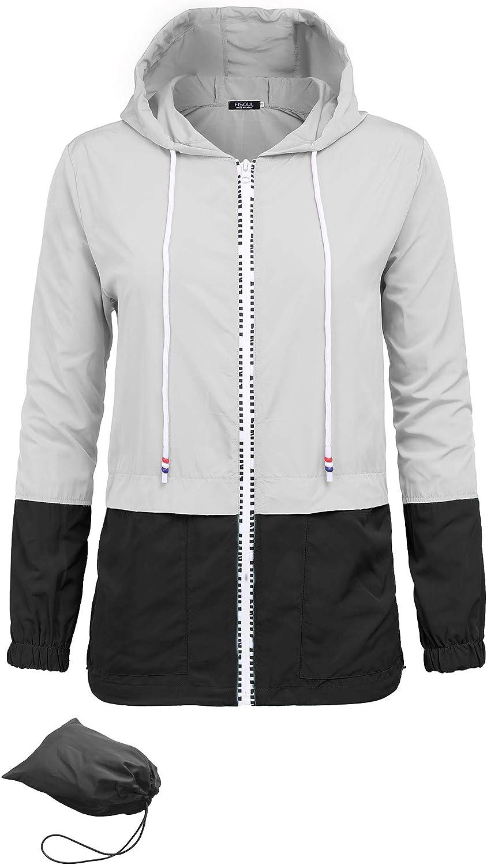 FISOUL Charlotte Mall Women's Waterproof Raincoat Outdoor Packable 2021 Active Hoode