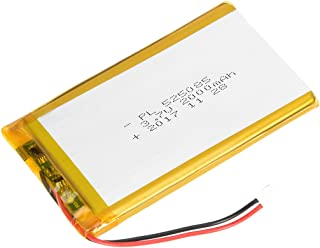 uxcell Power Supply DC 3.7V 2000mAh 525085 Li-ion Rechargeable Lithium Polymer Li-Po Battery