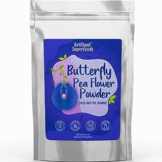 Butterfly Pea Flower Powder - Blue Matcha Tea - 4.02 oz - 100% Natural Food Coloring - Teas, Smoothie Bowls, Yogurts & Nut Milks - Ellie's Best
