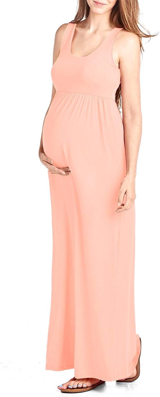 Beachcoco Women's Maternity Maxi Tank Dress Made in USA
