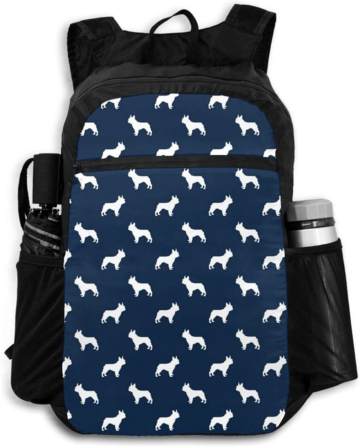 Zolama Boston Terrier Dog Silhouette discount Blue for Navy Backpacks Max 71% OFF Wom